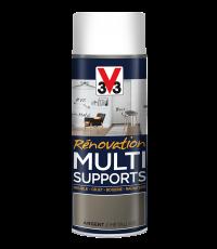 Peinture Rénovation Multi support argent satin aérosol 400 ml - V33