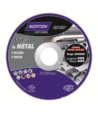 Disque à tronçonner métal/inox Ø 115 Ep. 3,2 - NORTON