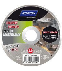 Disque à tronçonner multi-matériaux Ø125x2,0x22,23mm - NORTON