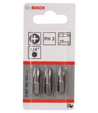 Embouts XH PH2 25mm 3 pièces  - BOSCH