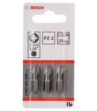 Embouts XH PZ2 25mm 3 pièces - BOSCH