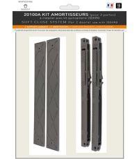 Sachet de 2 amortisseurs de portes de placard + guides - EKIPA