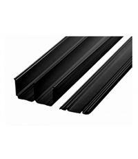 Pack rails haut et bas 2400 noir pour portes de placard - EKIPA