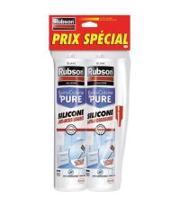 Lot de 2 mastics Sanitaires B&C anti-moisissures - 280ml - blanc - RUBSON