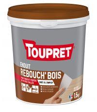 Enduit de rebouchage Bois pâte 1,5kg TOUPRET