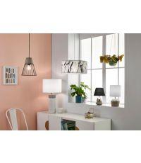 Lampe céramique blanc/béton palma gm