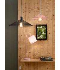 Suspension métal rose pastel grid pm ∅ 36 cm - COREP