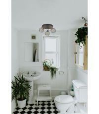 Plafonnier verre noir mat/laiton orin 3 lampes - COREP