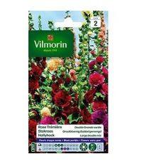 Graines Rose Trémière Double Grande Variée - VILMORIN