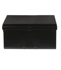 Coffre de rangement 45 litres en métal noir - SNOR PIERRE HENRY