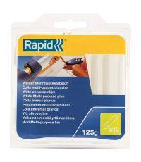 Colle thermofusible blanche diamètre 12 blister de 125g - RAPID