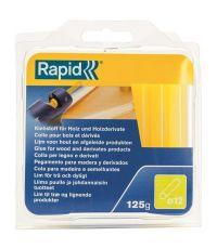 Colle thermofusible bois diamètre 12 blister de 125g - RAPID