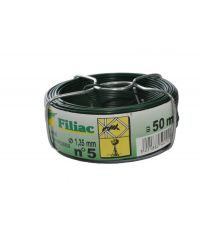 Bobine fil de fer plastifié vert n°5 Ø1,35mm L.50m - FILIAC