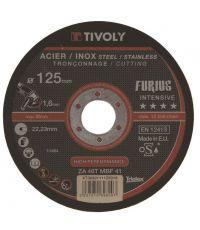Disque de tronçonnage furius métal ø125