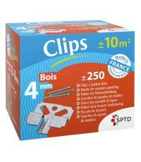 Lot de 250 clips à lambris bois + pointes 4 mm - SPTD