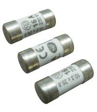 3 fusibles cylindre 10,3x25,8mm 16a. - TIBELEC
