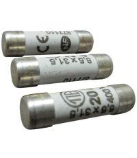 3 fusibles cylindre 8,5x31,5mm 20a. - TIBELEC