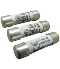 3 fusibles cylindre 10,3x38mm 16a. - TIBELEC