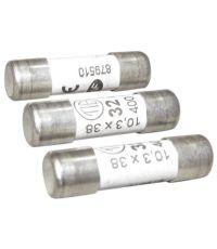 3 fusibles cylindre 10,3x38mm 32a. - TIBELEC