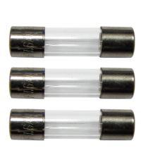 3 fusibles verre 5x20mm 1,6a. - TIBELEC