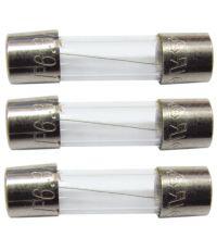 3 fusibles verre 5x20mm 6,3a. - TIBELEC