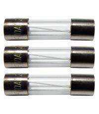 3 fusibles verre 5x20mm 10a. - TIBELEC