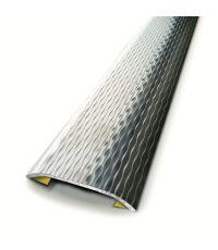 Barre de seuil décoratif adhésif inox vagues L.83 x L.3,7 cm - 3M