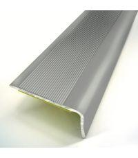 Nez de marche adhésif L.110 x l.3,6 cm aluminium titanium - 3M