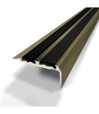 Nez de marche 2 bandes adhesives titium 40x20/170