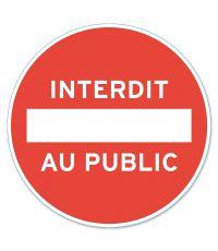 """Disque """"Interdit public"""" PVC adhésif Ø 280mm  - CHAPUIS"""