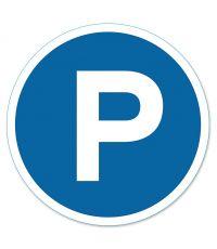 """Disque """"Parking"""" PVC adhésif Diamètre 280 mm"""