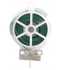 Lien métal plastifié vert+coup-fil Largeur2,6mm L.30m