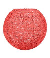 Suspension Boule Rouge D30cm - OSTARIA
