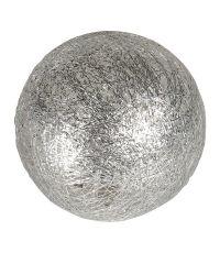 Boule tissu argenté ⌀ 6 cm - OSTARIA