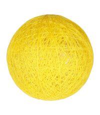 Boule tissu jaune ⌀ 6 cm - OSTARIA