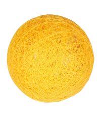 Boule tissu jaune moutarde ⌀ 6 cm - OSTARIA