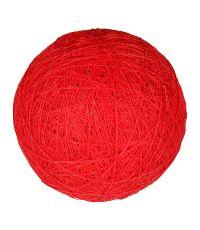 Boule tissu rouge ⌀ 6 cm - OSTARIA