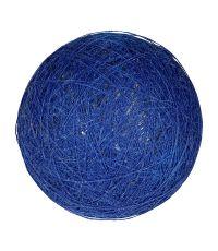 Boule tissu indigo ⌀ 6 cm - OSTARIA