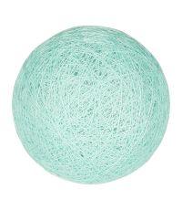 Boule tissu bleu vert ⌀ 6 cm - OSTARIA