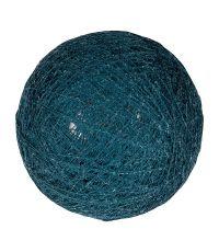Boule tissu bleu pétrole ⌀ 6 cm - OSTARIA