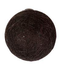 Boule tissu chocolat ⌀ 6 cm - OSTARIA