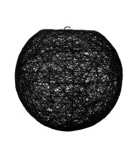 Suspension Boule Noire D20cm - OSTARIA