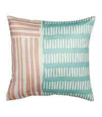 Housse de coussin carrée 100% polyester 'Touches de Pastel' - OSTARIA