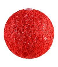 Boules en tissu Gloss rouge Ø6 cm