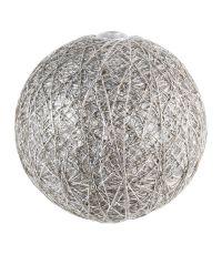 Boules en tissu Gloss argent Ø6 cm