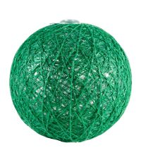 Boules en tissu Gloss vert foncé Ø6 cm