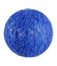 Boules en tissu Gloss bleu foncé Ø6 cm