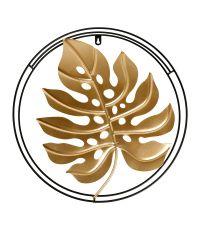Décoration murale métal 'Monstera' dorée  - OSTARIA
