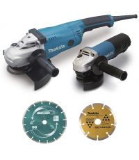 Ensemble de 2 machines ( kit d'accessoires) (ga9020 + 9558hnrg) - MAKITA