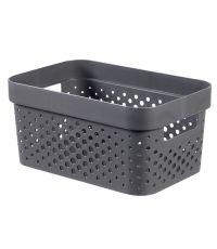 Bac de rangement recyclé gris 4,5L Infinity - CURVER